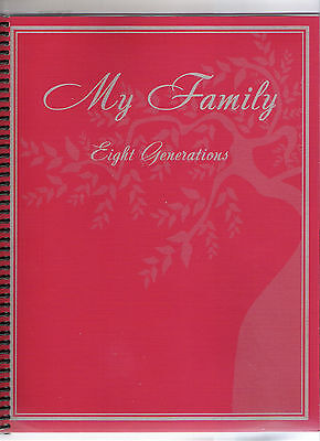 Genealogy Family Tree Ancestry History Record Lineage Chart Workbook Ancester