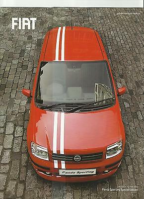 FIAT PANDA SPORTING SPECIAL EDITION INTRODUCTORY SALES BROCHURE  MID 2000's