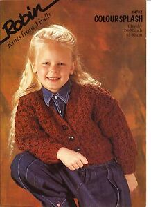 Robin - Girl's Button Front Cardigan - chunky knitting pattern (P758)