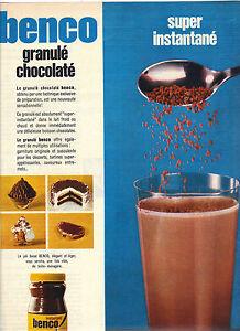 publicite 1968 benco chocolat petit d jeuner instantan ebay. Black Bedroom Furniture Sets. Home Design Ideas
