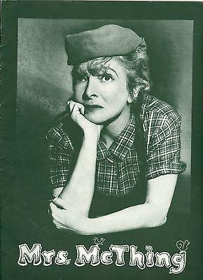 Mrs. McThing souvenir theatre program Helen Hayes Jules Munshin