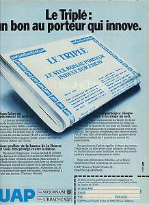 publicite advertising 1979 uap le triple bon au porteur ebay. Black Bedroom Furniture Sets. Home Design Ideas