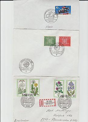 Bund 1963-1986 6 FDC