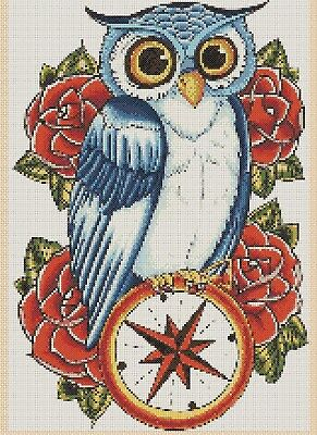Colorful Owl Counted Cross Stitch COMPLETE KIT #2-392/8