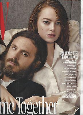 W magazine Casey Affleck Emma Stone Michelle Williams Natalie Portman Amy Adams