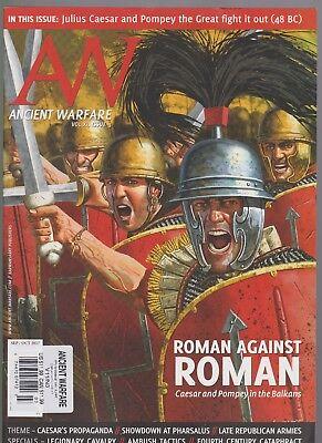 AW ANCIENT WARFARE MAGAZINE SEPT/OCT 2017, Roman Against Roman Caesar & Pompey.