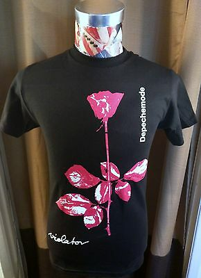 Brand New Depeche Mode Violator Red Rose Eighties 80S Alt Rock Black T Shirt