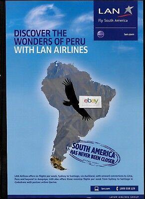 Lan Airlines Latam Discover Peru Via Santiago Auckland Sydney Condor Ad