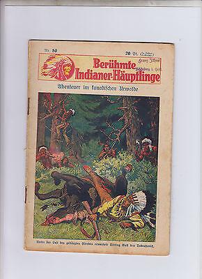 Berühmte Indianer-Häuptlinge 2 Hefte Nummer 50,52 Serie ab 1931