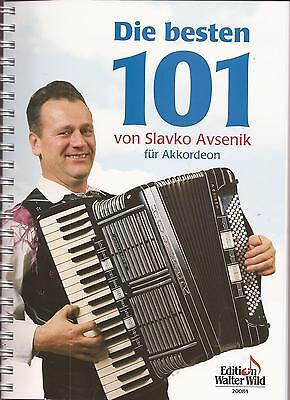 Akkordeon Noten - SLAVKO AVSENIK - DIE BESTEN 101 - DIN A 4