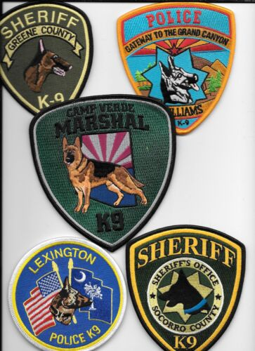 Clearance: K-9 - 5 Patch Set - # 46 shoulder police patch (fire)