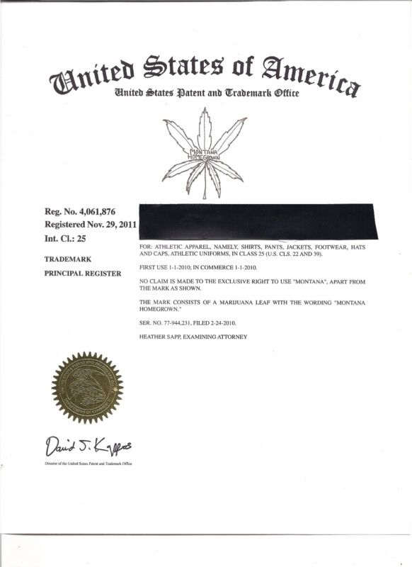 "Trademark and domains for sale""MONTANA HOMEGROWN"" . An American business."