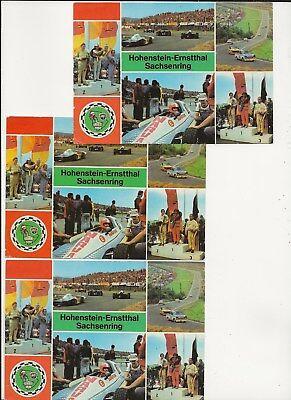 25/876 AK AUTO RENNWAGEN TRABANT DDR WERBUNG NARVA FAHNE JAHR 1983 SACHSENRING