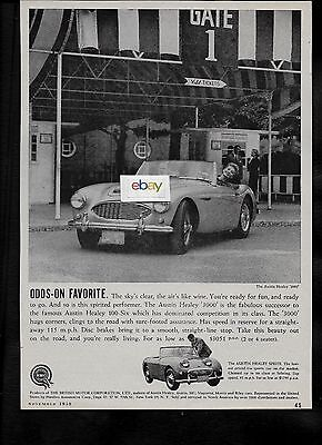 BMC BRITISH MOTOR CORP 1959 AUSTIN HEALEY 3000 ODDS-ON FAVORITE $3051 AD