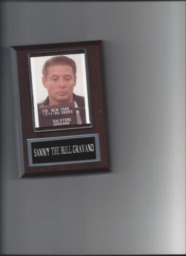 SAMMY THE BULL GRAVANO MUG SHOT PLAQUE MAFIA ORGANIZED CRIME MOBSTER MOB