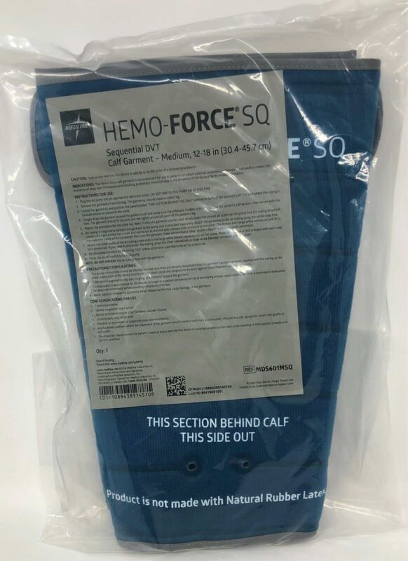 Medline Hemo-Force SQ Sequential DVT Calf Garment Pair - Medium - MDS601MSQ -NEW