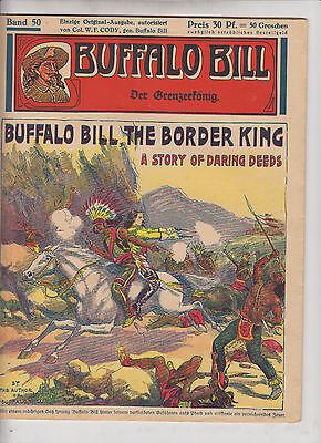 Buffalo Bill 1930 Originalheft Nr. 50 im Zustand (1-2) schöner Zustand Kühn Vlg.