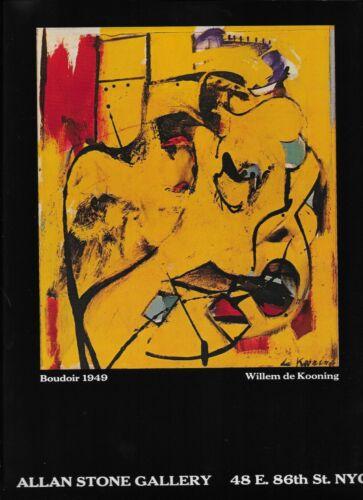 1981 Willem de Kooning Boudoir 1949 Painting NYC Art Gallery Original print ad