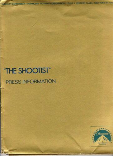 VERY RARE SHOOTIST 1976 PRESS KIT JOHN WAYNE 9 - 8 X 10 PHOTOS PRESS BOOK + INFO
