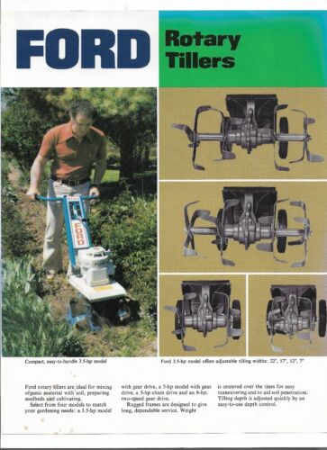 Original Ford RT3.5 RT5 RTC5 RT8 Rotary Tillers Specifications Brochure AD-3190