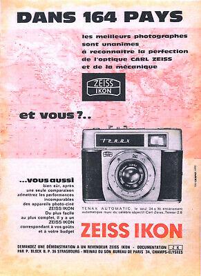 Publicité papier PHOTO ZEISS IKON juillet 1961 P1023928