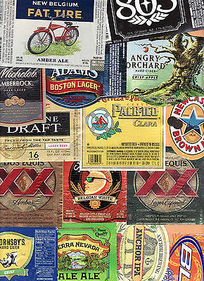 LOT of 10 DIFFERENT ASSORTED  BEER BOTTLE LABELS
