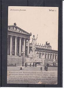 AK Wien Brunnen vor dem Parlament gelaufen 1908 nach Triest - Graz, Österreich - Rücknahmen akzeptiert - Graz, Österreich