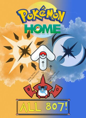 Pokemon Home Sword and Shield Completion! Fast Delivery! All 807 Pokemon