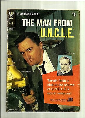 Man From Uncle  3 1965 Gold Key Comics Silver Age  Robert Vaughn Photo Cover