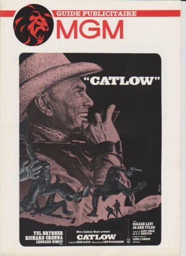 WESTERN Yul BRYNNER Daliah LAVI Leonard NIMOY French Pressbook MGM CATLOW
