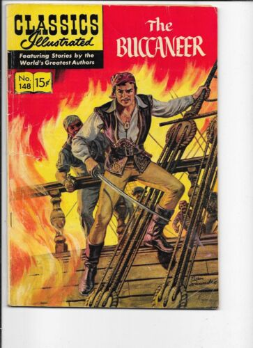 Classics Illustrated  #148    hrn 148  The Buccaneer  1st print