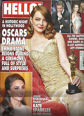 HELLO ! MAGAZINE  OSCARS DRAMA   MARCH, 13th  2017    NO. 1472     PRINTED IN UK