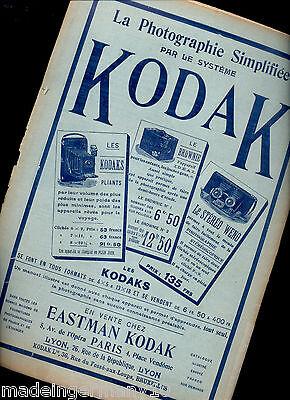 """KODAK KRAUSS ZEISS"" Kamera Reklame Heft & Radio Detektor KORSTEN 1902 Düsseldo"