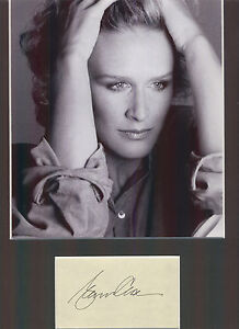 GLENN-CLOSE-FATAL-ATTRACTION-LOVELY-AUTHENTIC-SIGNED-AUTOGRAPH-DISPLAY-UACC
