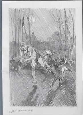 Vicente Ballestar Originalzeichnung John Sinclair Schwarz/Weiß