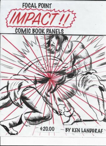 KEN LANDGRAF- LEARN TO DRAW FOCAL POINT IMPACT ACTION COMIC BOOK PANELS -BUSCEMA