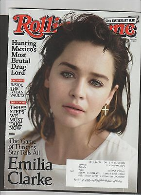 Game Of Thrones Emilia Clarke  Rolling Stone Magazine    Free Ship