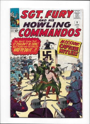 """SGT. FURY #9  [1964 VG+]  """"MISSION: CAPTURE HITLER!"""""""