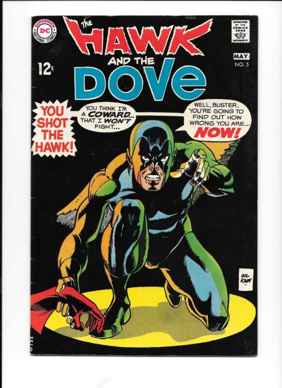 The Hawk and the Dove #5 (Apr-May 1969, DC) Teen Titans cameo