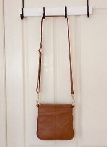 Tan Leather Cross Body Bag The Gap Brisbane North West Preview
