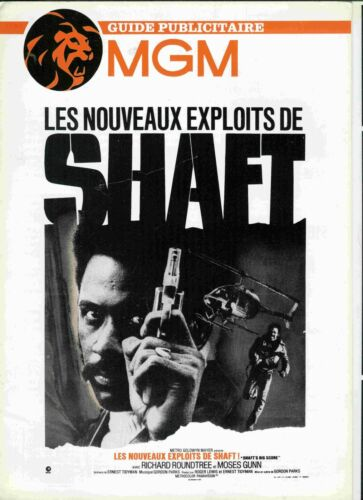 BLAXPLOITATION RICHARD ROUNDTRE french Pressbook SHAFT BIG SCORE