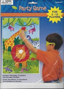 Jungle safari party game birthday party supplies animals for Animals decoration games