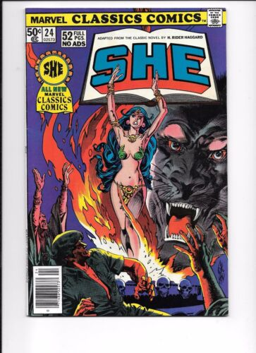 Marvel Classics Comics #24 She by H. Rider Haggard Illustrated 1977