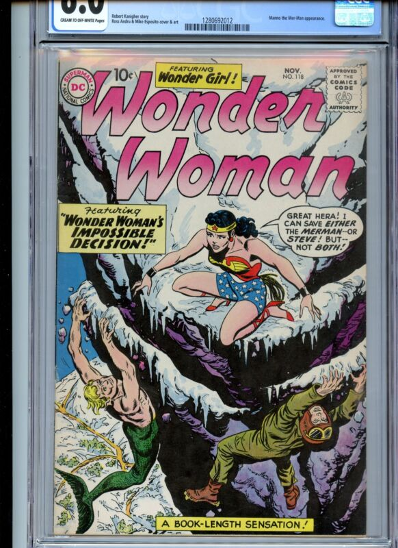 Wonder Woman #118 CGC 6.0 1960