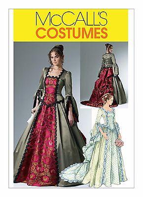 M6097 Mccall's Schnittmuster Misses' Kostüm Viktorianisch Kleid 14-20