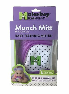 Munch Mitt Baby Teething Mitten Teether Toy, 3- 7 months, up to 12 mos., Purple