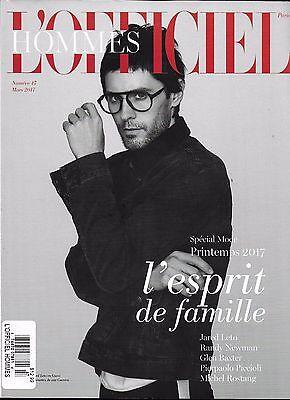 Lofficiel Hommes magazine Jared Leto Randy Newman Glen Baxter Michel Rostang