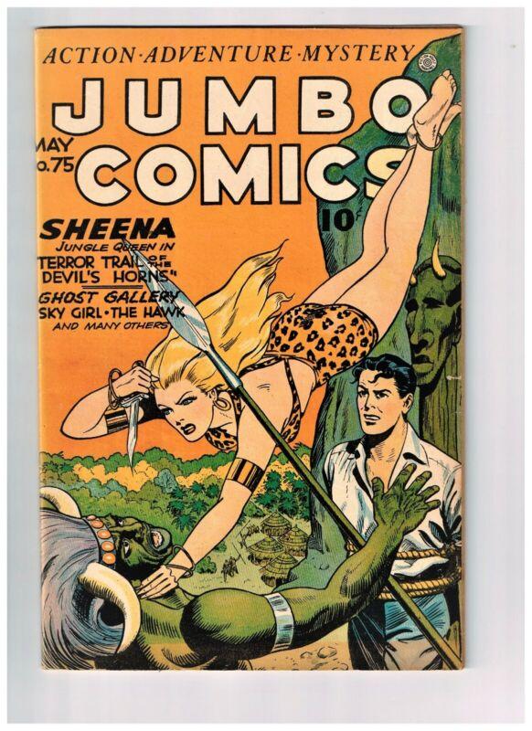Jumbo 75 VF/NM 1945 Sheena GGA Baker, Webb, Doolin