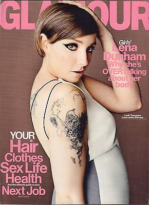 Glamour April 2014 Lena Dunham  Ultimate Guide To Your Next Job Vg 041816Dbe