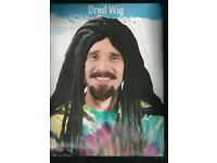 "BLACK 19/"" LONG BRAIDED WIG RASTA RAGGEA COSTUME DRESS FW9243"